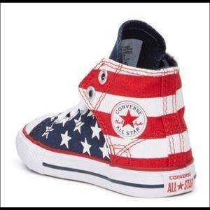Toddler Converse High Tops USA Size 10